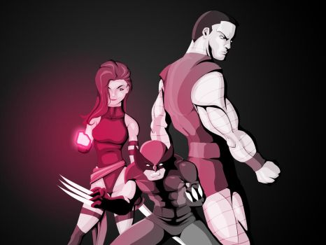 X-Men in pink by WeaponXIX