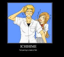IchiHime Fail Poster by Dark-Elf-Kana