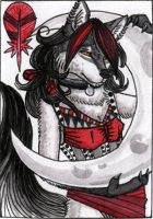 ACEO WhiteSpiritWolf by Phoeline
