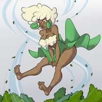 Whimsicott, do the windy thing! by FicusArt