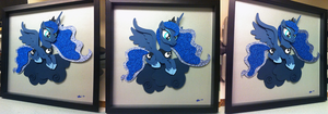 Commission: Luna Shadowbox, Take 3 by The-Paper-Pony