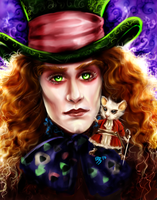 Mad Hatter and Dormouse by FairyGodfather