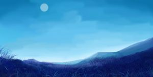 [Night] Study drawing landscape by aollynk