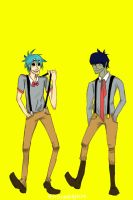 2D and Murdoc! by mirrorsandapples