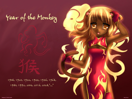 Year of the Monkey Wallpaper by TheMorningMist