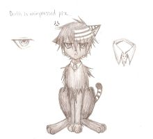 Death kitty is unimpressed plz by aipuri