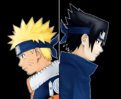 Naruto vs Sasuke by insanityassassin