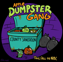 Apple Dumpster Gang by waffledawg