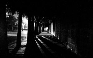 sidewalk night by Kardia-Fractus