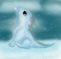 Baby snow dragon by Aneczka518