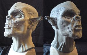 Orc sculpt 3 by WulWhite