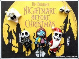 Chibi Charms: Nightmare Before Christmas by Marielishere