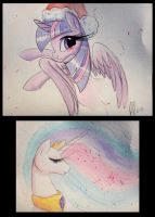 Watercolor doodles by PrettyPinkP0ny