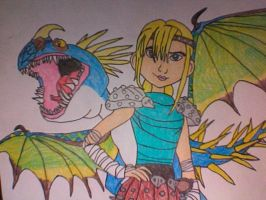 Astrid and Stormfly by Kailie2122