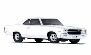 1969 AMC Ambassador DPL 2-Door Hardtop Drawing by Vertualissimo