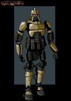 gold cylon warrior by nightwing1975