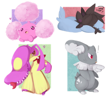 :Painting: - pokemon for funsies by Sombrasaurus