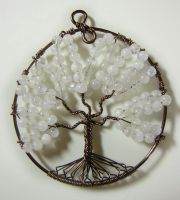 Rainbow Moonstone Tree of Life *SOLD* by RachaelsWireGarden