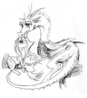 Discord and Fluttershy by Aspendragon
