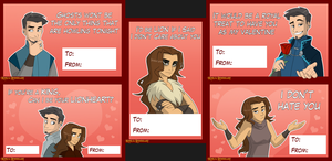 Valentine Cards King and Lionheart Style by Zukitz