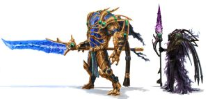 Protoss Hero and Void Walker by Phill-Art