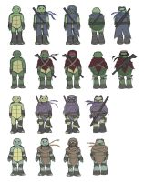 TMNT AU: Character designs by Mosrael-the-Waker
