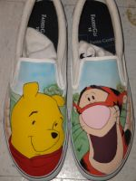 Winnie the Pooh and Tigger Canvas Shoes by tjjwelch