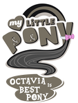 Fanart - MLP. My Little Pony Logo - Octavia by jamescorck