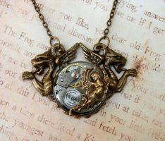 Steampunk Chimera Necklace by FusedElegance