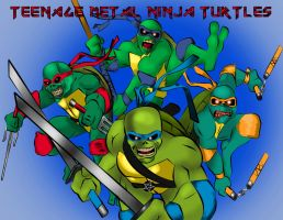 Ninja Iron Maiden Turtles by stormblast-x