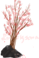 Blooming tree by Firefly-Soma