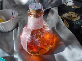Sun's Kiss Potion Bottle: In Progress by TheGemsProduction