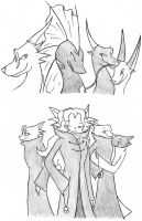 klaid, leo, jeck and blink by draykathedragon