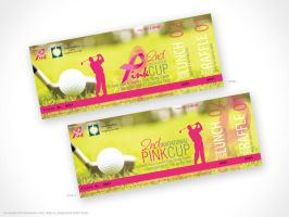 Project Pink Ticket Design by artjective