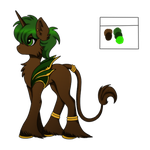 Pony Adoptable - Classical Wood Unicorn - SOLD by xxShadowWarriorxx