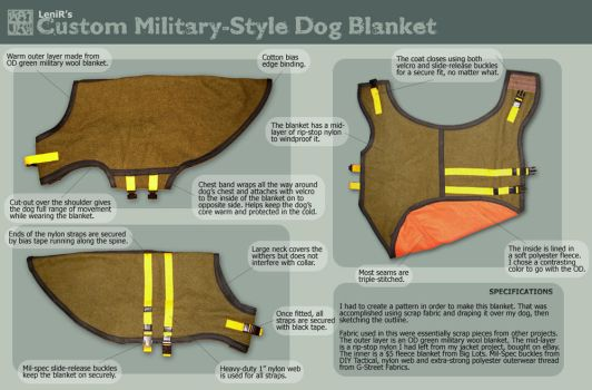 Sewing - Dog Blanket by MauserGirl