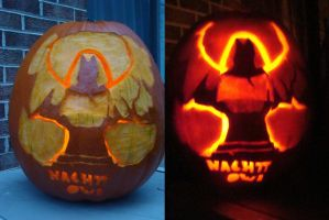 Tomb Angel Ward Pumpkin by NachttOwl