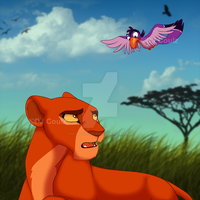 A Powerful Queen and RightHand by DJCoulzAnimalsOnly