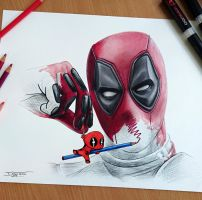 Deadpool drawing by AtomiccircuS