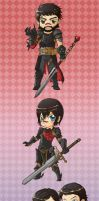 DA2 chibi character line up by spidercandy