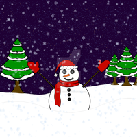Christmas picture 2: SnowTime Snowman by Mysticblueshadow