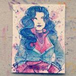 Asami painting by StarsInMyCoffeee