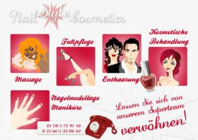 Nail Design Cosmetics Flyer 1 by Ephourita