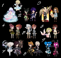 Free wta Adoptables duo batch {CLOSED} by faeryhond