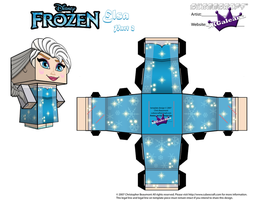 Elsa From Disney's Frozen cubeecraft Template P2 by SKGaleana