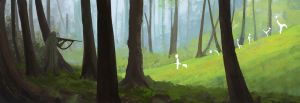 The woods today by Ashleypinkart