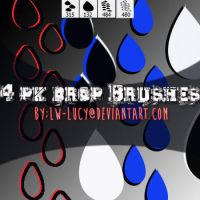 4 Pack Drop Brushes by LW-Lucy