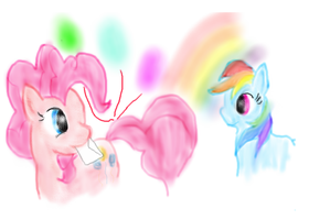 Rainbow Dash and Pinkie Pie by maximumm