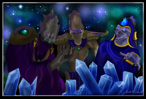 Aldaris, Artanis, and Zeratul by WeisseEdelweiss