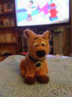 Needle Felted Scooby Doo by MusePoetique